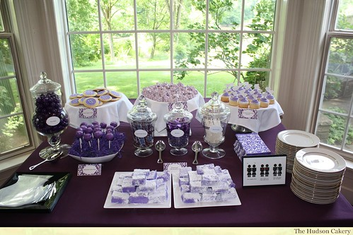 Purple Dessert Table For Bridal Shower The Purple And
