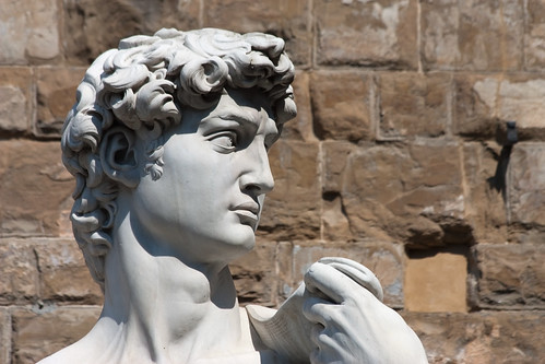 Florence - Marble David in Piazza della Signoria | by Eusebius@Commons