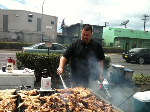 Anthony Cooking Some Huli Huli Chicken at Manny's on our trip to Oahu in 2009 | by Anthony Quintano