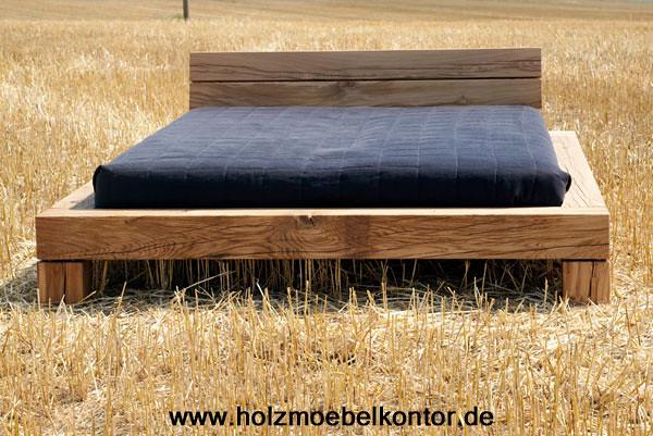 Bett eiche 160 x 210 einzigartige schlafm bel balken for Bett 120x200 eiche