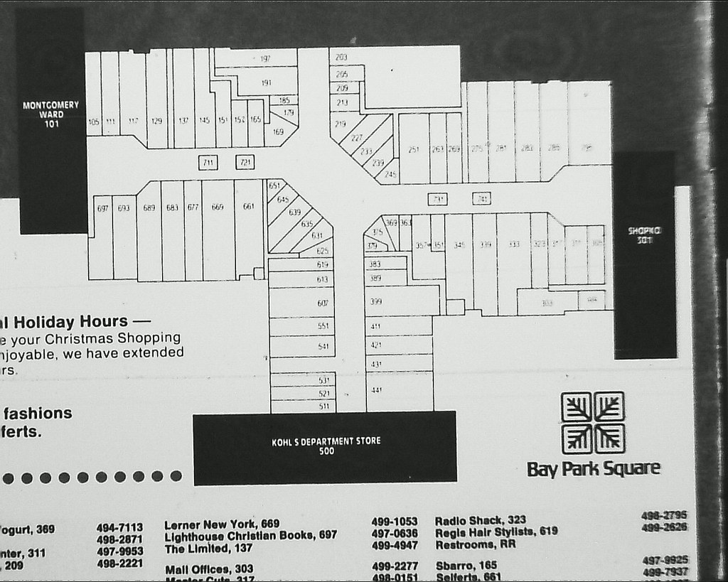 Bay Park Square Mall Map Bay Park Square   Christmas newspaper supplement   closeup… | Flickr Bay Park Square Mall Map