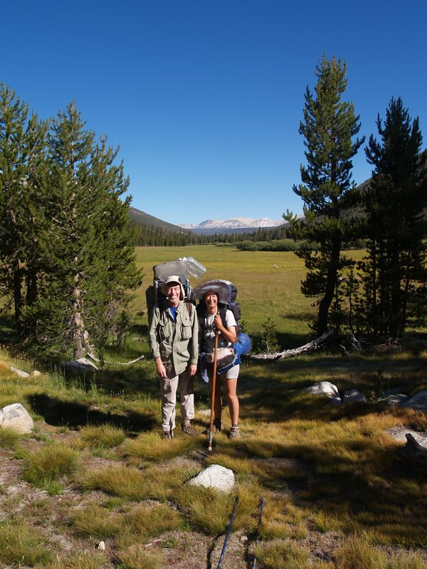 We posed for a photo near the head of a meadow in Lyell Canyon