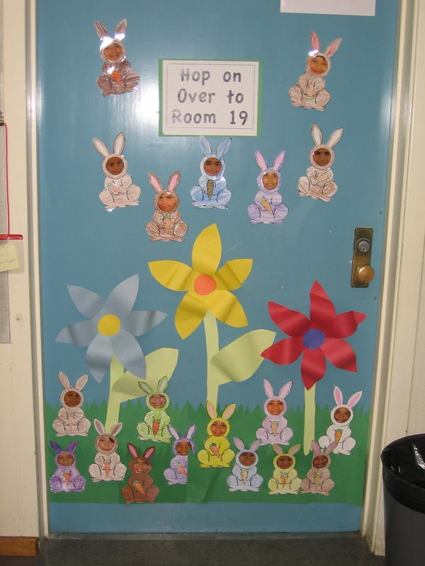 Spring Classroom Decorations ~ Classroom door decoration decorations