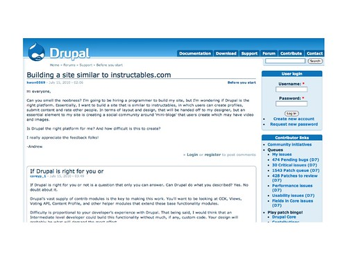 Drupal support forum | by Terriko