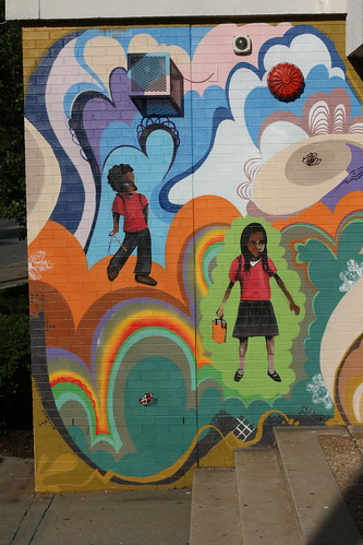 Malcolm x elementary school mural created as a part of for Malcolm x mural