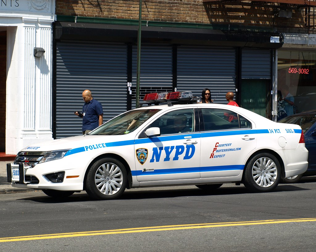 p034s nypd ford fusion hybrid police car inwood new york flickr. Black Bedroom Furniture Sets. Home Design Ideas