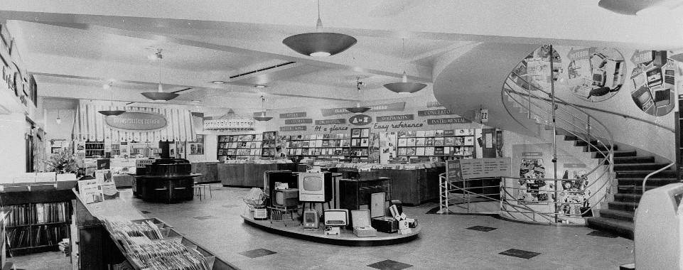 Hmv 363 Oxford Street London Shop Floor 1950s Hmv 363
