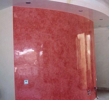Estuco veneciano estuco veneciano en color rojo juan - Estuco veneciano colores ...