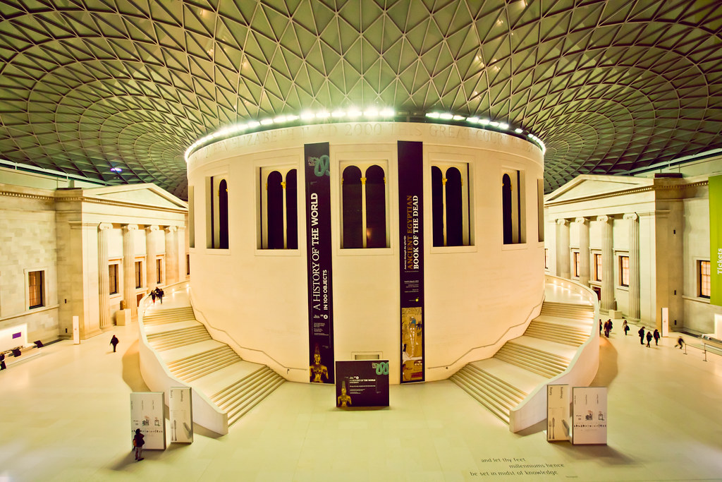 Foyer Museum Uk : The great hall at british museum london uk