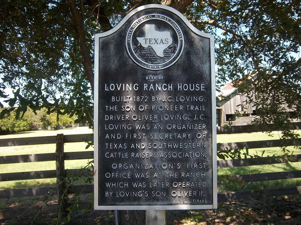 Site Loving Ranch House Jermyn Texas Historical Marke