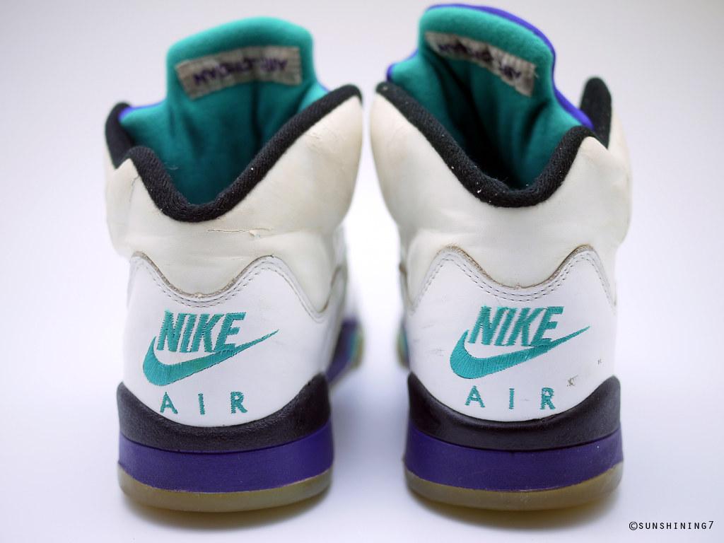 eb9f2e908a0d63 ... cheap sunshining7 nike air jordan v 5 og 1990 white purple emerald  5a916 de8e9