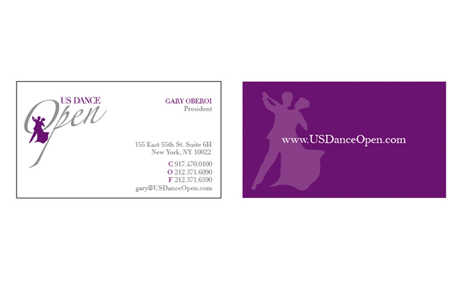 Business Cards Design, Baltimore MD - US Dance Open | Flickr