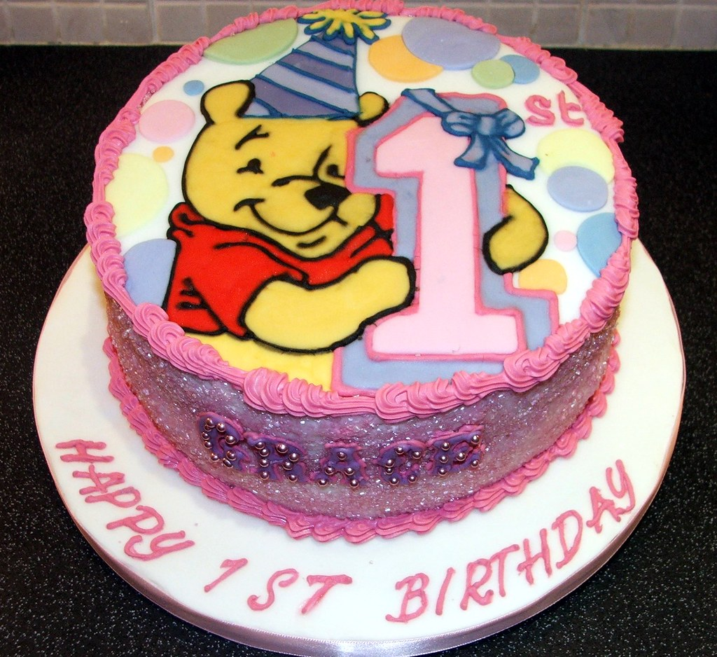 Winnie The Pooh 1st B Day I Made This For My Daughters