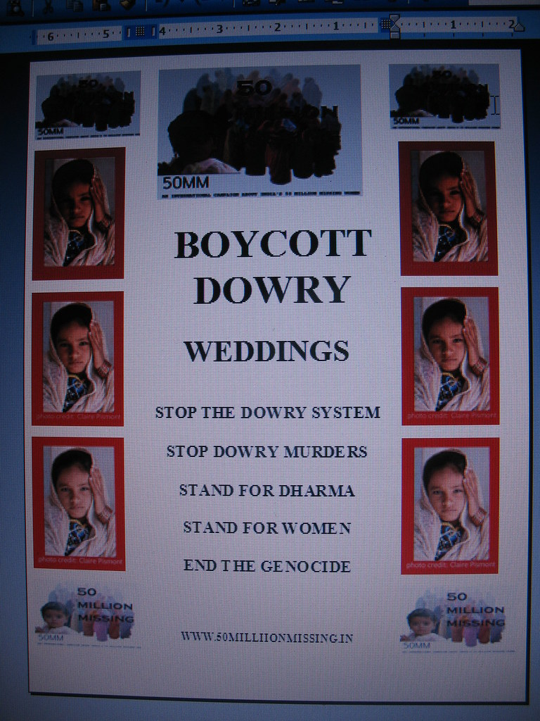 dowry boycott poster for gunapie flickr
