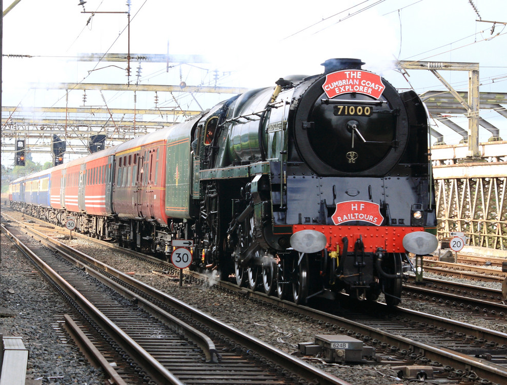 Steam Engine Locomotive Number 71000, ''duke Of Gloucester