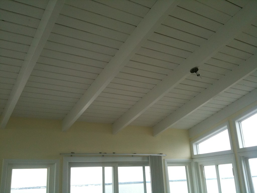 5 Panelled Ceiling Completed Following Wallpaper