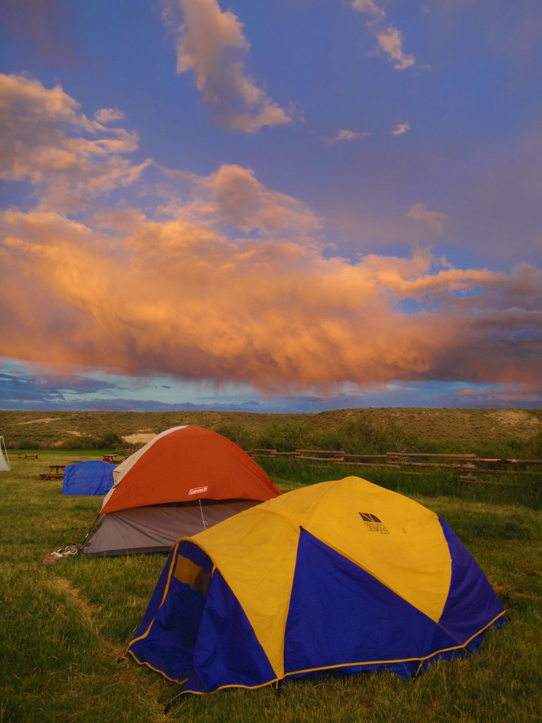 ... Tent C&ing at Sixth Crossing Wyoming 1 of 4 | by IronRodArt - Royce & Tent Camping at Sixth Crossing Wyoming 1 of 4 | While tentu2026 | Flickr