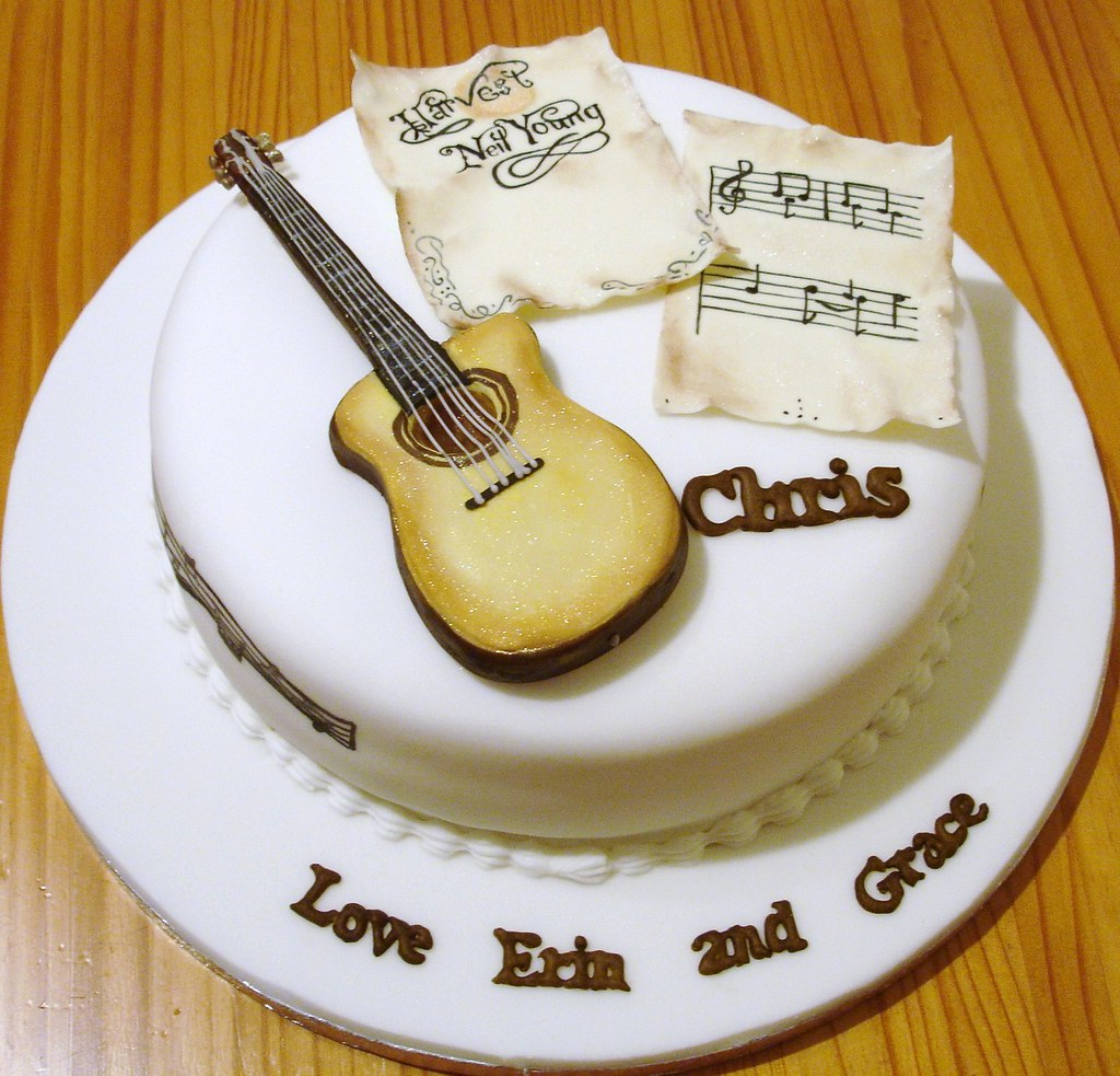 Cake Designs Guitar : Guitar Cake A guitar cake made for a friend who plays ...