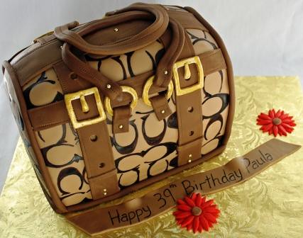Coach Brown Purse 39th Birthday Cake Paula
