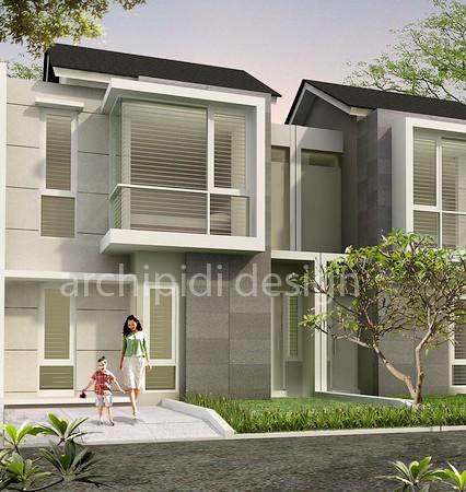Rumah town house minimalist golden eight desain modern for Minimalist house jakarta
