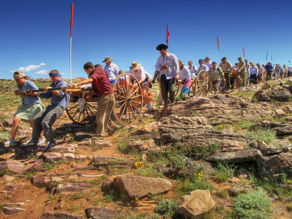 pioneer handcart trek on the u0027rocky ridgeu0027 trail by ironrodart royce bair