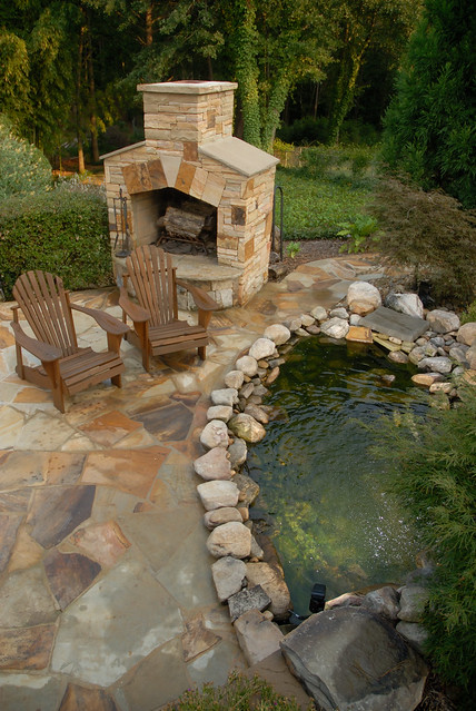 11 ways to transform your landscape with rocks parsons for Koi pool cue