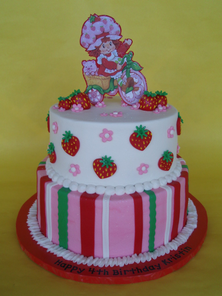 Strawberry Shortcake Birthday Cake Topper