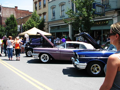 At The Car Show In 2010 1959 Pontiac Convertible And A