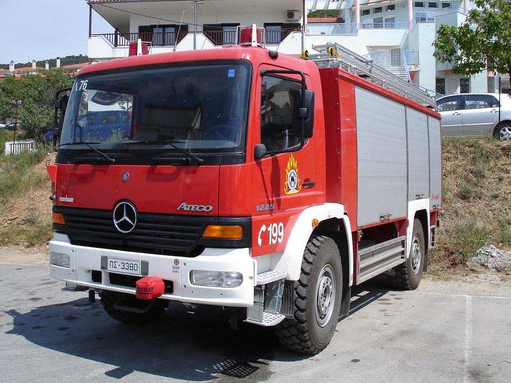 Fire truck Mercedes Benz Atego 1225 4X4 | Polygyros ...