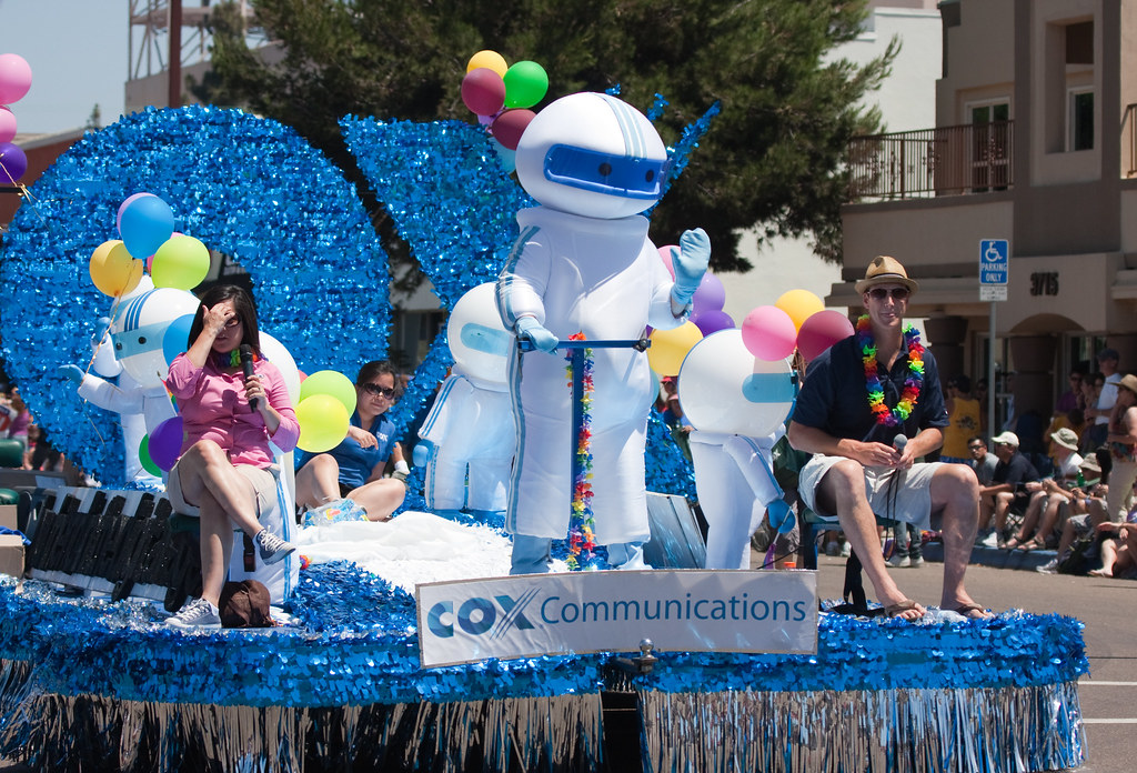 Cox gay pride float