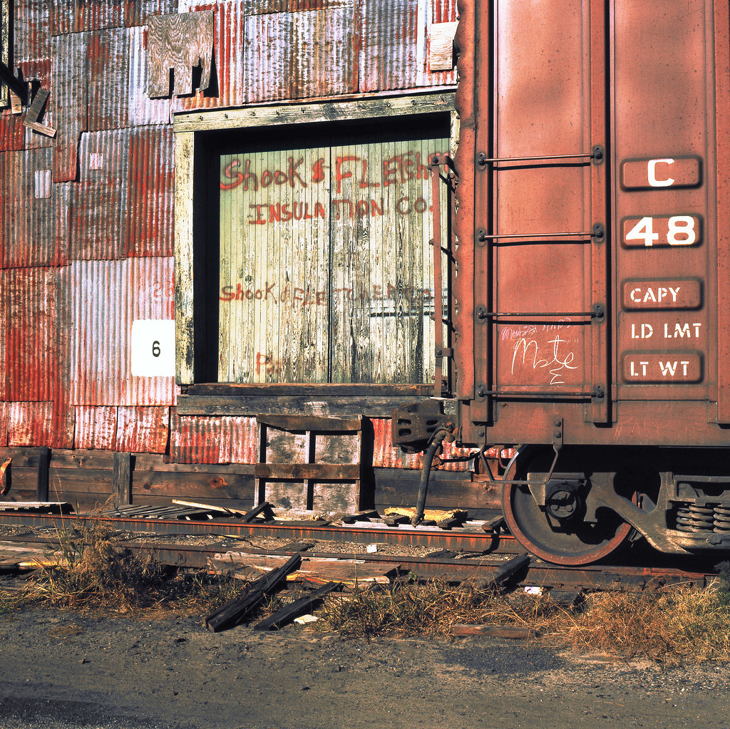 Used Car Warehouse: Box Car Located On A Siding At An Old Warehouse In Savanna