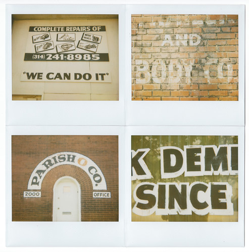 Vernacular Typography Polaroids Onpaperwings Flickr