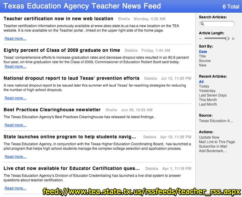 Texas Education Agency Teacher News Feed Feedtea Flickr