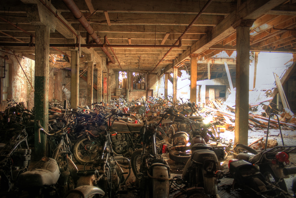 Abandoned Motorcycles Hdr These Photos Are Part Of A