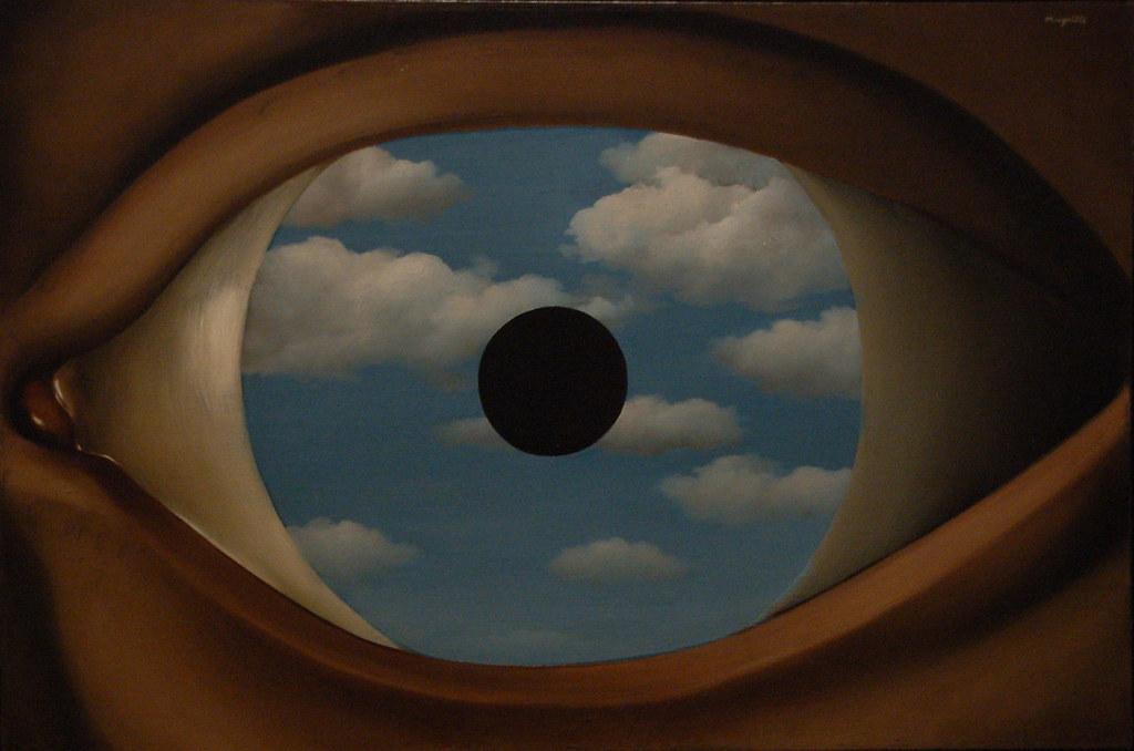 Le faux miroir ren magritte 1928 museum of modern art for Miroir 3 pans