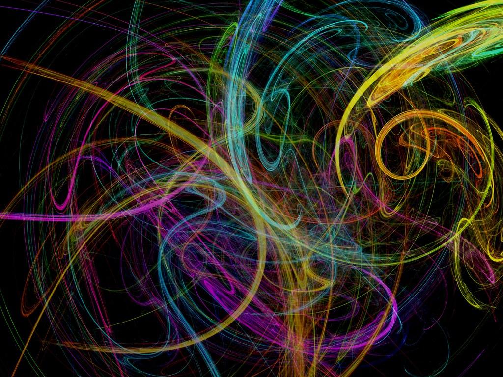 Image gallery neon swirls for Neon yellow wall paint