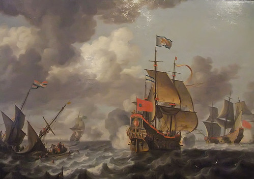 Battle between the Dutch Navy and Pirates by Bonaventura Peeters 1614-1652 Flemish | by mharrsch