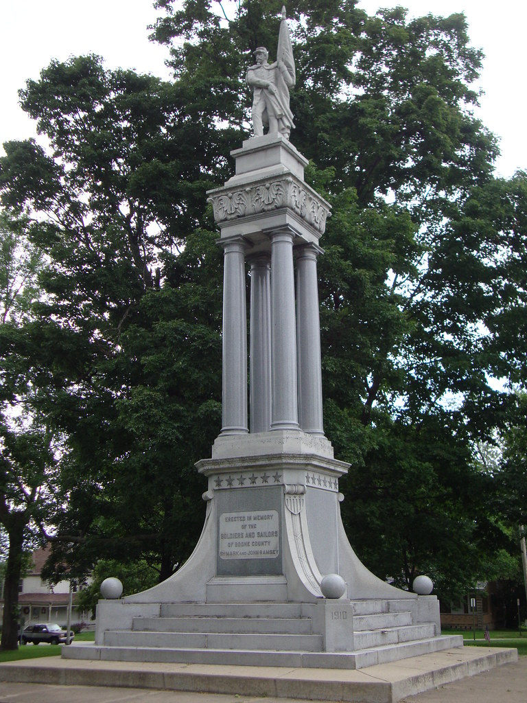 Illinois boone county belvidere -  Boone County Civil War Monument Belvidere Illinois By Courthouselover