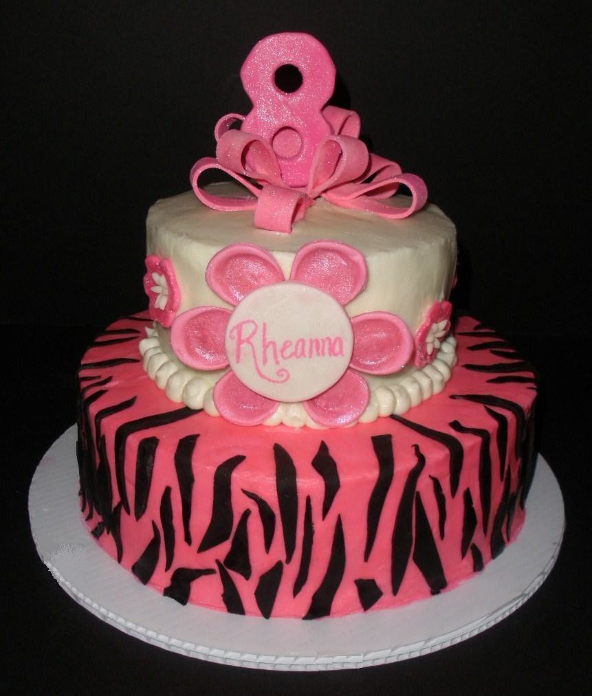 Rheanna S 8th Birthday Cake An 8 Year Old Birthday Cake