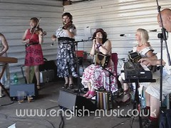 Polkaworks at the Anchor Garden, Sidmouth folk week, 2010.
