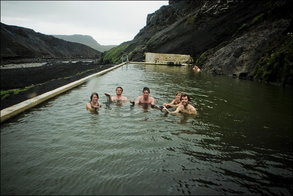 Seljavellir Swimming Pool At The Mountain Side Of The Eyj Flickr
