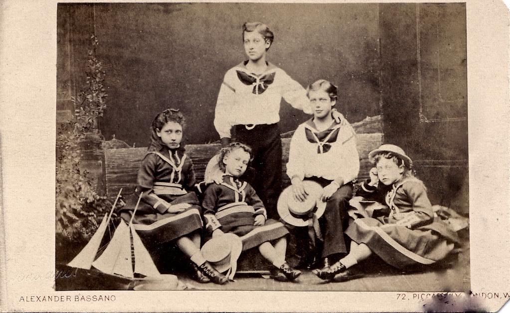 Circa Albumen Carte De Visite Of The Children King Edward VII And Queen Alexandra