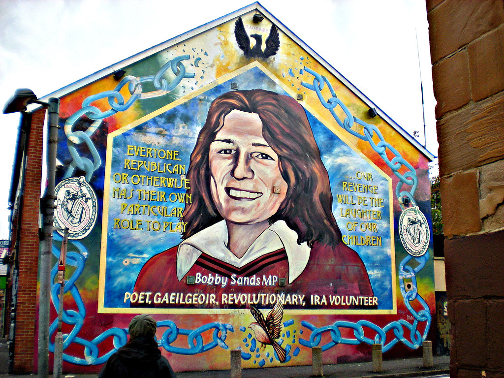 Bobby sands mural falls road belfast northern ireland for Bobby sands mural falls road