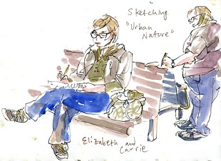 Urban Sketchers Elizabeth and Carrie | by Floodfish