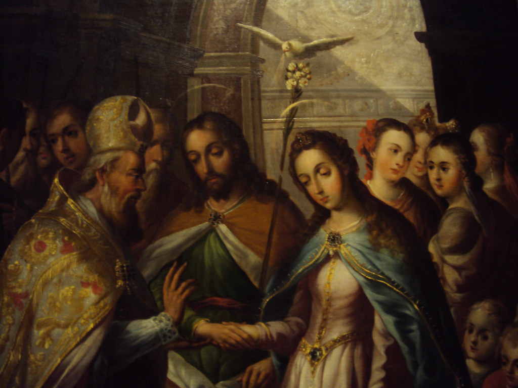 Virgen Matrimonio Biblia : Los desposorios de la virgen y san josé foto tomada en