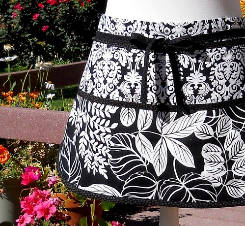 Pocket Apron - Black and White | by Geneva Designs