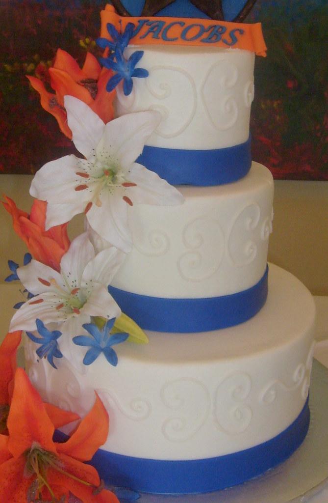 blue-orange-wedding-cake.jpg   DPasteles Cake Shop   Flickr