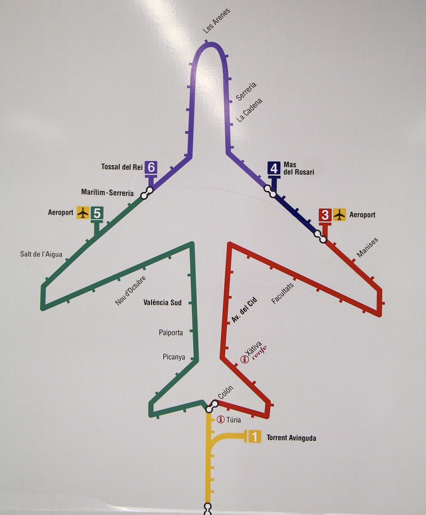 Valencia Metro Map for Air Travelers Andrey Belenko Flickr