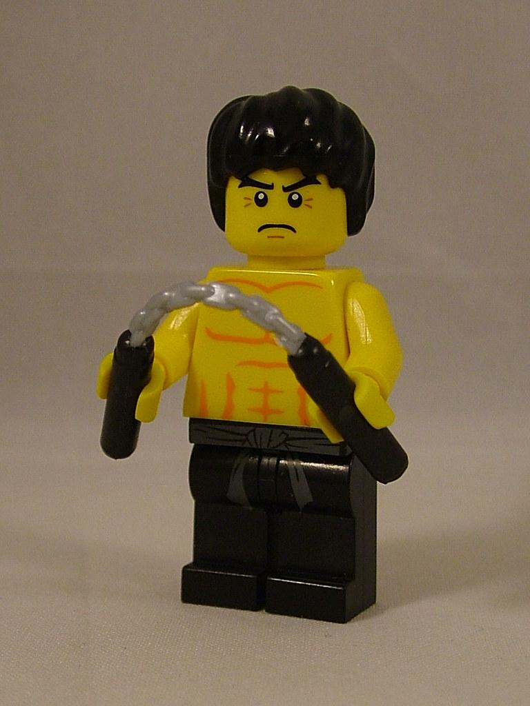 Bruce Lee with BrickAr...