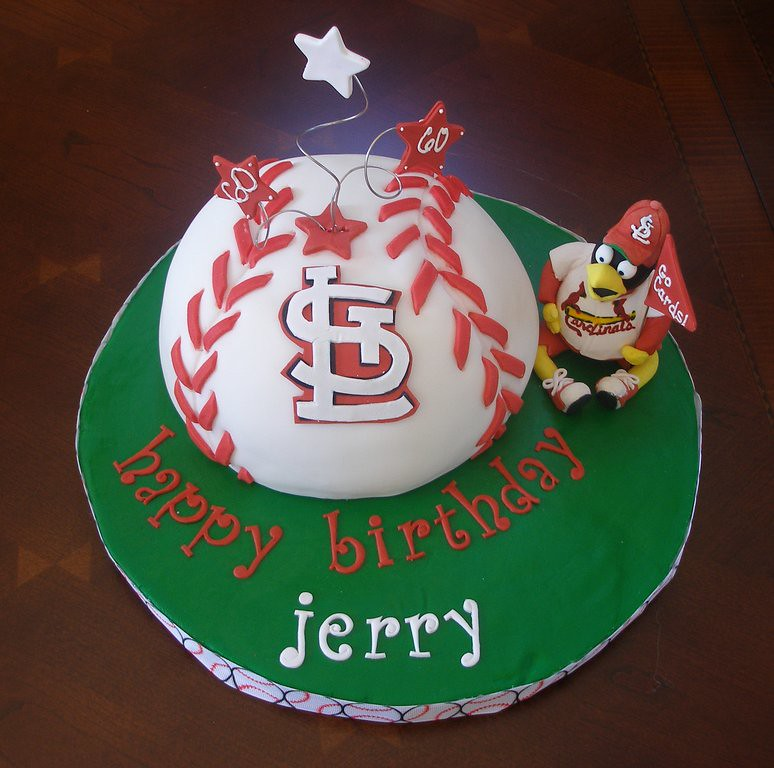 St Louis Cardinals Birthday Cake Baseball Is Dark Chocola Flickr